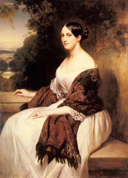 Franz Xaver Winterhalter. Le portrait de Mme Ackermann