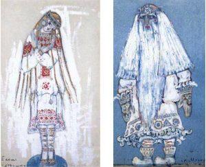 Rerikh croqui des costumes pour Snegourotchka
